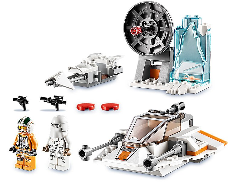 LEGO 75268 Star Wars Snowspeeder parts