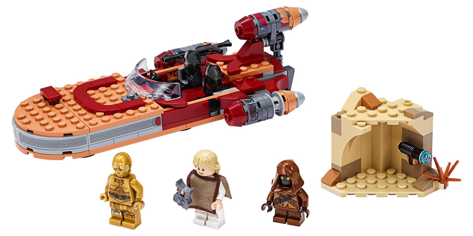 LEGO Star Wars 75271 Lukes Llandspeeder Set